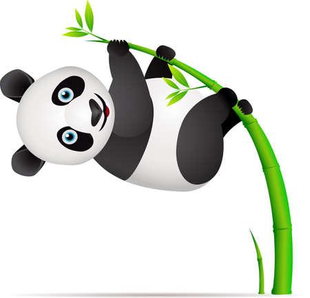 Panda en el árbol de bambú