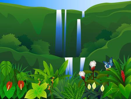 beaux paysages: Beau fond Illustration