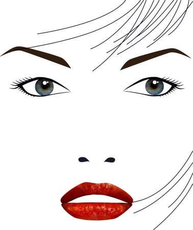 beautiful girl face Stock Vector - 8616033