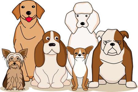 dog cartoon Vector