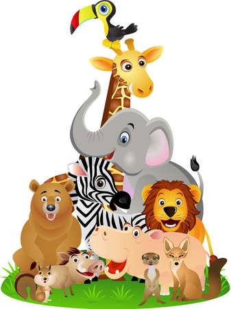 Dibujos animados animales Ilustración de vector