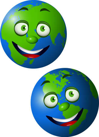 earth cartoon Vector