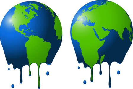 overheated: Melted earth