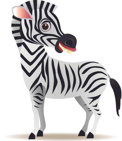 Zebra cartoon Stock Vector - 8714030