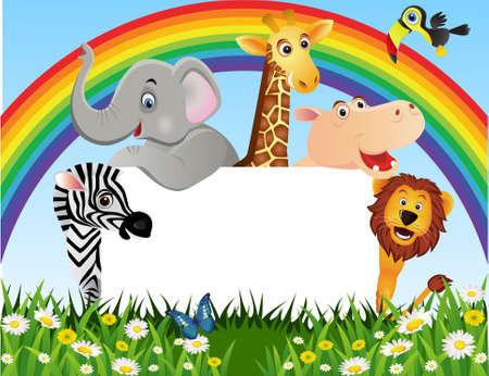 animal border: Animal cartoon