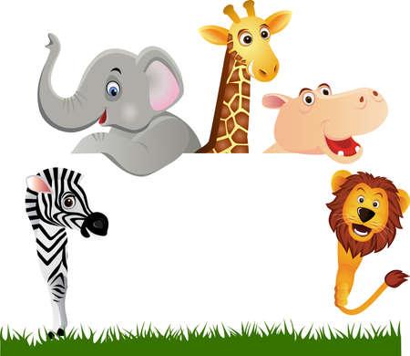 hippopotamus: Dibujos animados animales Vectores