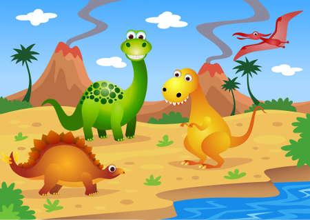 dinosaurios Ilustración de vector