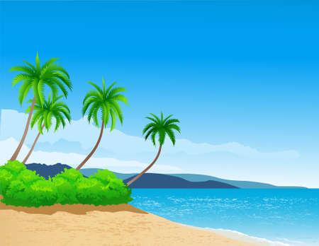 philippines: beach background Illustration
