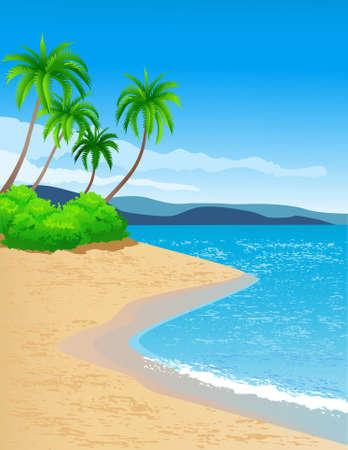 rocks water: beach background Illustration
