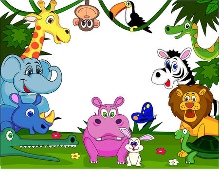 hippopotamus: Caricatura de safari animal