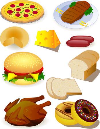 gourmet meal: Meal Illustration