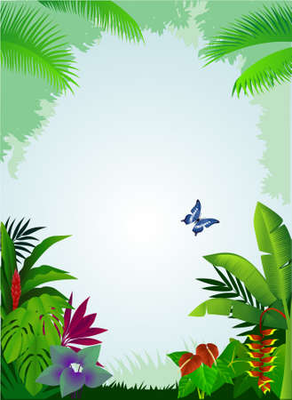 sedge: Tropical forest background Illustration
