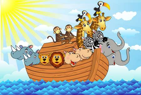hipopotamo dibujos animados: Arca de Noé