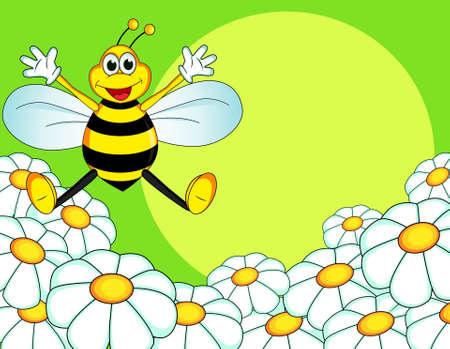bee cartoon Vector