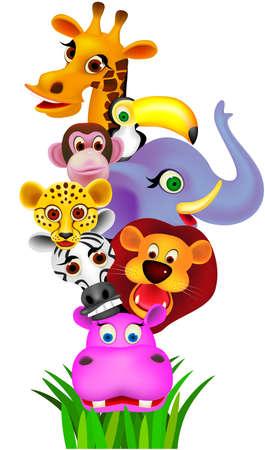 cartoon for�t: cartoon animale