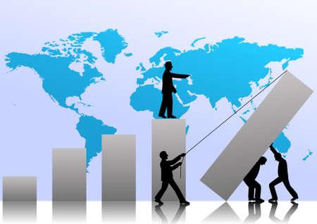 trabajo manual: TeamWorks al �xito en los negocios de Vectores