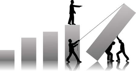 teamworks to make success in business Vectores
