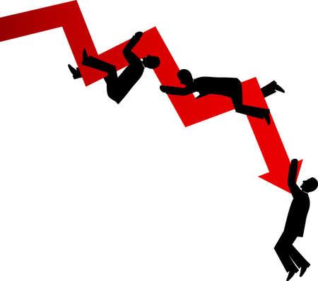 削減: ビジネスの低下  イラスト・ベクター素材