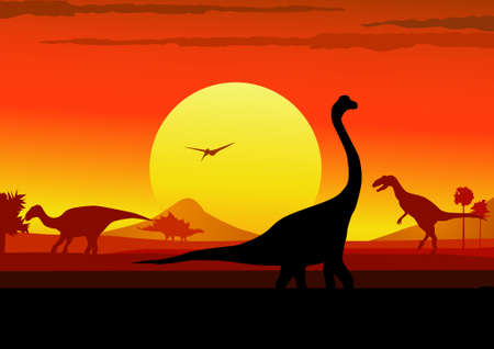 dinosaurs era background Vector