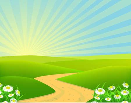 field and sky: sfondo paesaggio