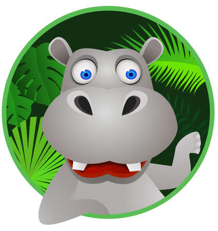 herbivore: hippo cartoon