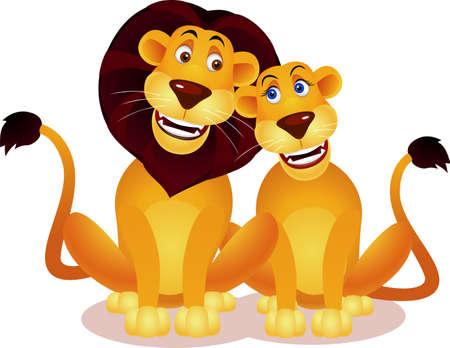 Lion couple  Vector