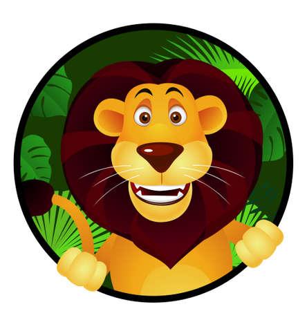 wild nature: Lion cartoon