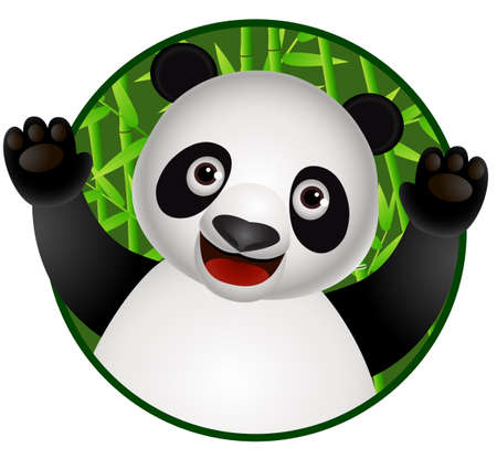 Panda cartoon Vector