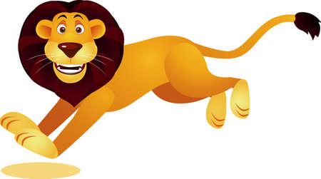 Lion cartoon running Stock Vector - 9569150