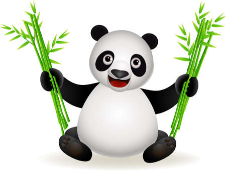 babyish: panda cartoon