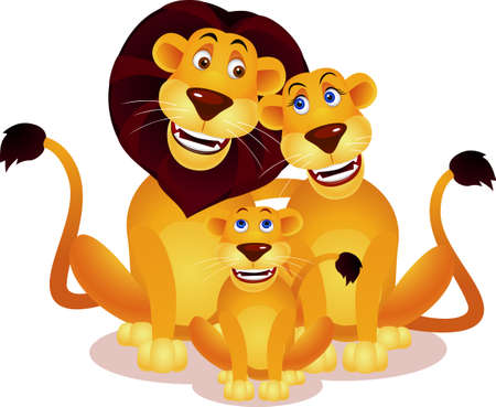 lion family Stock Vector - 9569159