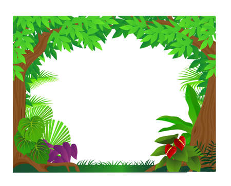 Forest background Stock Vector - 9569161
