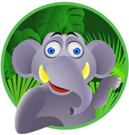 Elephant cartoon Stock Vector - 9650352