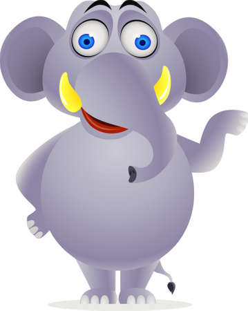 male animal: Elephant cartoon