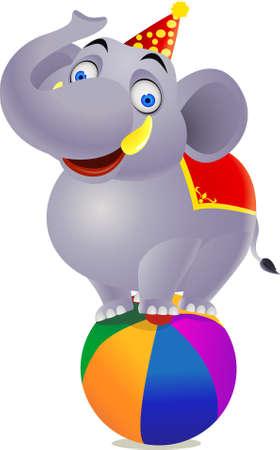 Elephant circuss Stock Vector - 9649789