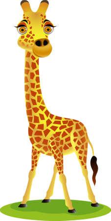 長頸鹿卡通 向量圖像