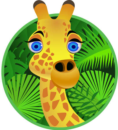 herbivore: Giraffe cartoon