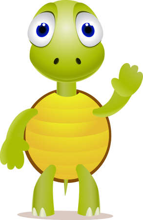 Cute turtle Stock Vector - 9698980