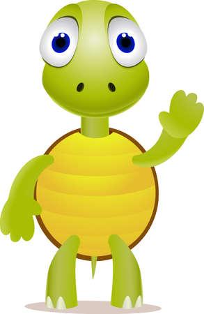 Cute turtle Stock Vector - 9698980