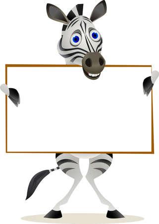 animales safari: signo de cebra ad en blanco Vectores