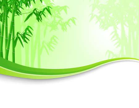 작은 숲: 대나무 나무 배경