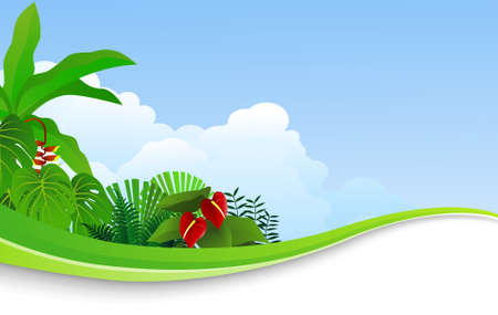 Nature background Stock Vector - 9698998