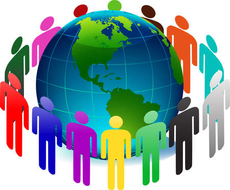 people and earth Vector