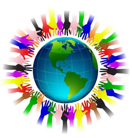 mani terra: Terra e mano umana
