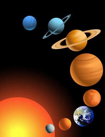 astronomie: Solar-system Illustration