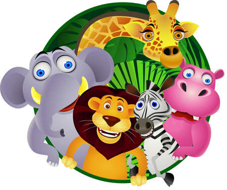 safari cartoon: animal cartoon