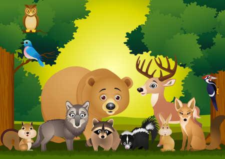 stinktier: Tier cartoon Illustration