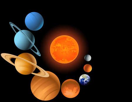 astronomie: Sonnensystem Illustration