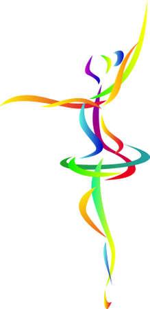 ballet cl�sico: Silueta de arte de bailarina de ballet