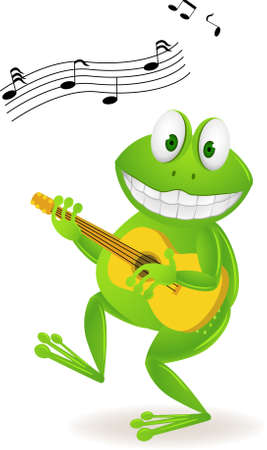 melody: frog with guitar